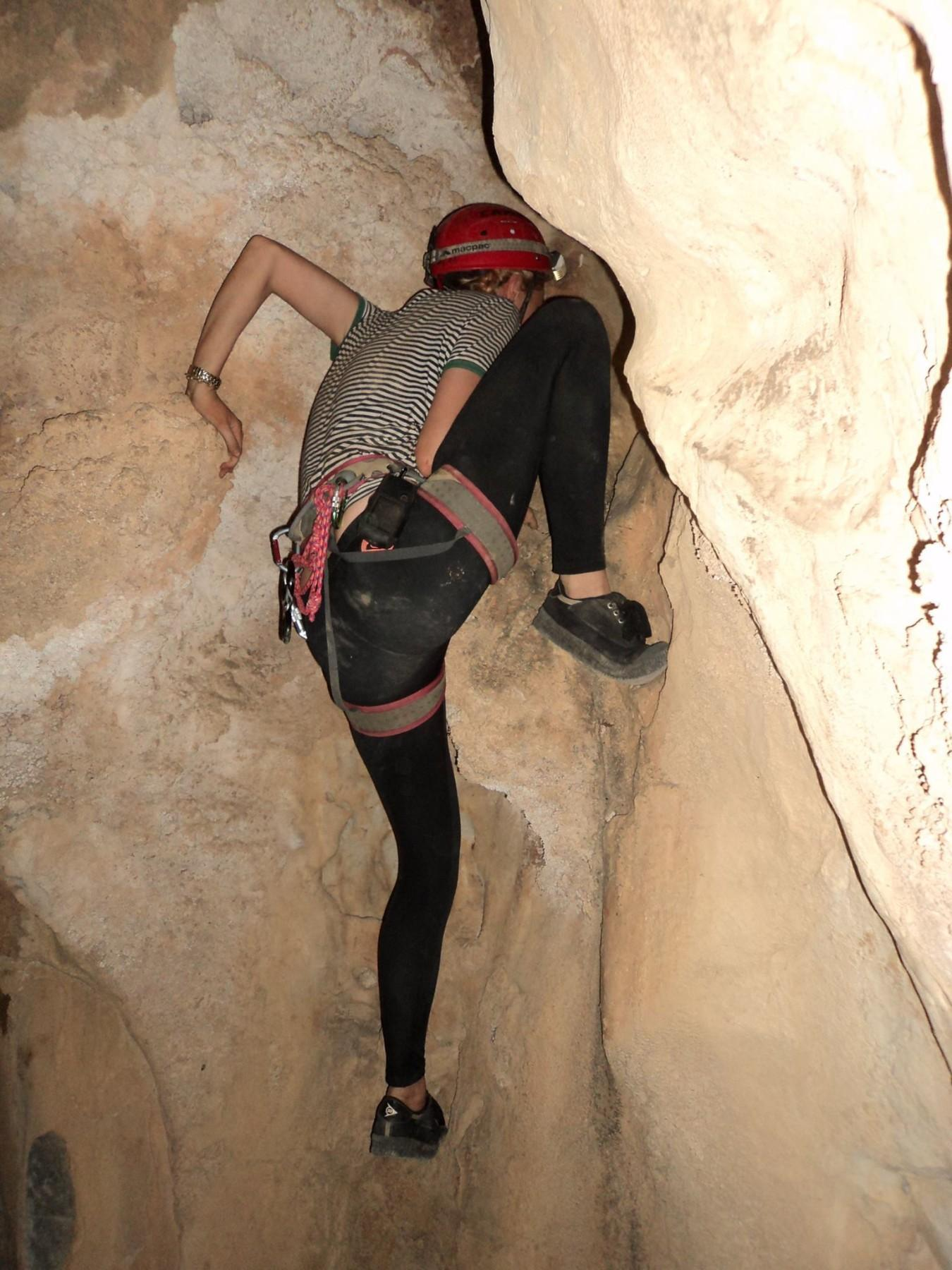 Another cave climb.